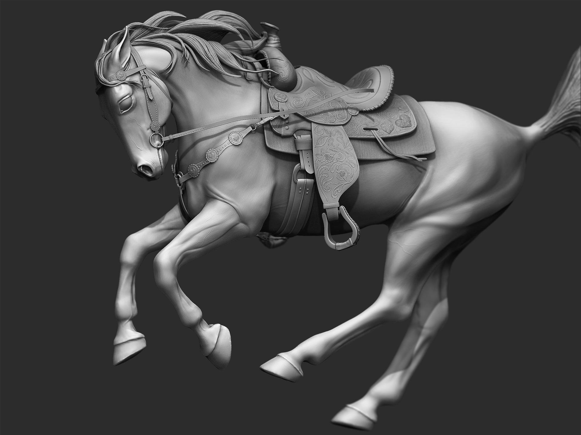 Zbrush Sculpt / Horse | Jacqueline Adelmeyer